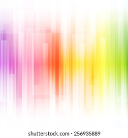 Abstract bright background. Vector illustration for modern design. Spectrum rainbow color. Stripe border pattern. Invitation or greeting card design. Gradient colorful wallpaper with space for message