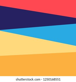Abstract bright colored background with geometric shapes and objects.