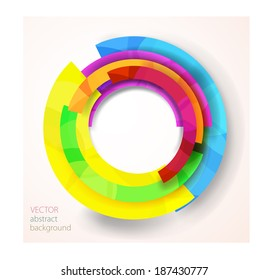Abstract bright Flat design vector background