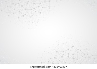 Abstract bright simple tech vector background. Connection structure. Polygonal vector abstract wallpaper. Abstract technology shapes. Vector science background