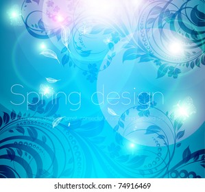 Abstract bright spring or summer floral background. eps 10.