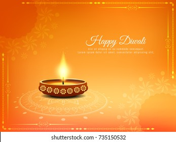 Abstract bright stylish Happy Diwali background