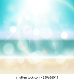 Abstract bright sunny summer sea tropical background