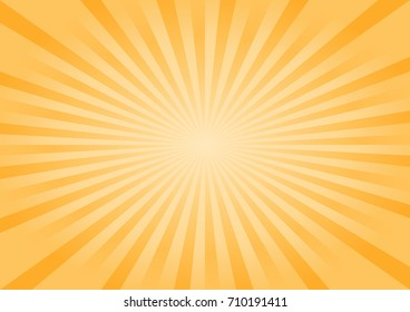 Abstract bright Yellow Orange rays background. Vector EPS 10, cmyk