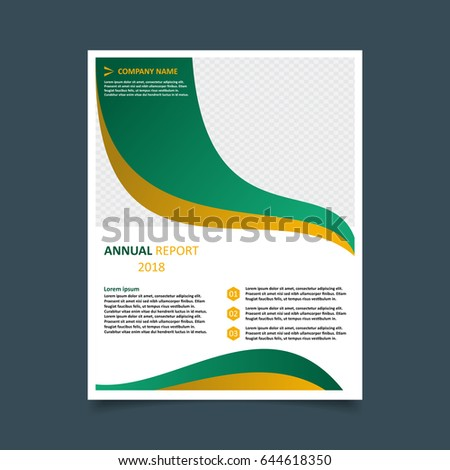 abstract brochure flyer design template simple stock vector royalty