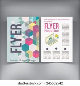 Abstract  Brochure Flyer design vector template. vector illustration eps 10