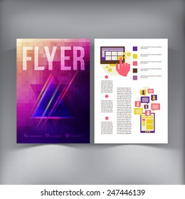 Abstract  Brochure Flyer design vector template. vector illustration eps 10