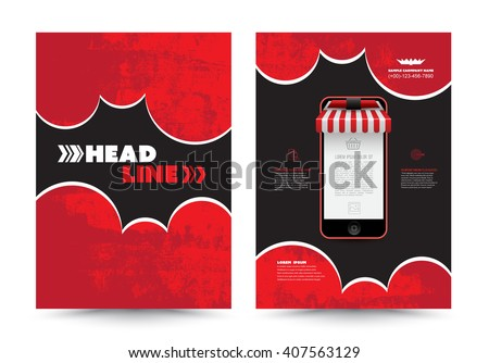 Abstract brochure with smartphone