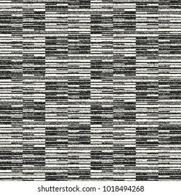 Abstract Broken Geometric Motif Grain Stroke Textured Background. Seamless Pattern.