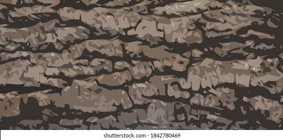 Abstract brown background that resembles the texture of wood bark. Vector illustration.
