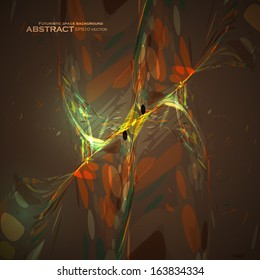 Abstract brown wave vector background, futuristic illustration eps10.