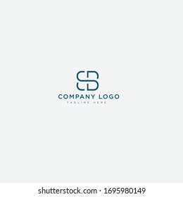 abstract BS / SB vector logo design mark