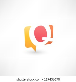 Abstract bubble icon  based on the letter Q
