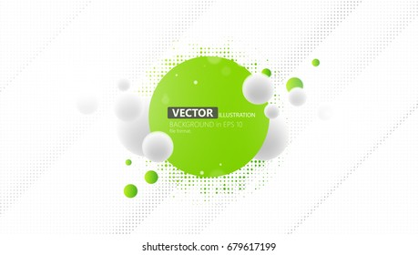 Abstract Bubbles Background with Round Label and Space Your Text.  - Vector Design