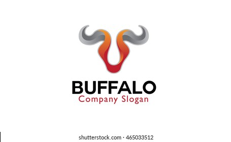 Abstract Bull Logo Design Illustration