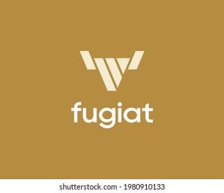 Abstract bull taurus vector logo design. Universal cow, steakhouse, horns sign, symbol logotype.