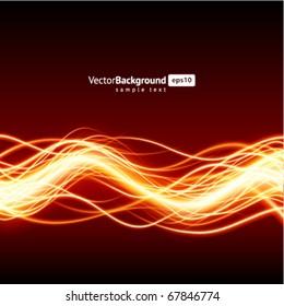 Abstract burn waveform vector background