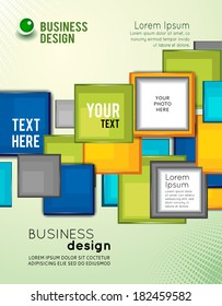 Abstract Business Background. Flyer Magazine Cover & Brochure Template.