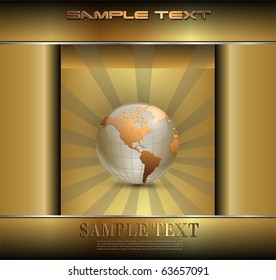 Abstract business background gold, vector.