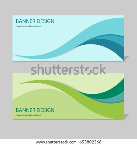 Abstract business background header template design stock vector abstract business background header template design set flashek Gallery