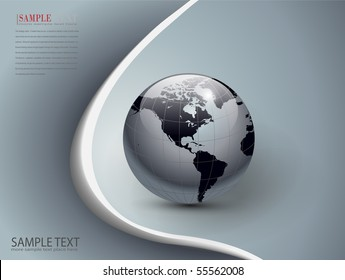 abstract business background silver and grey, vector.