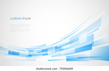 Abstract business blue background. Vector illustration.