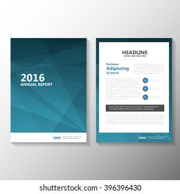 Abstract business blue Vector Leaflet Brochure Flyer template design, book cover layout design, Abstract blue presentation templates