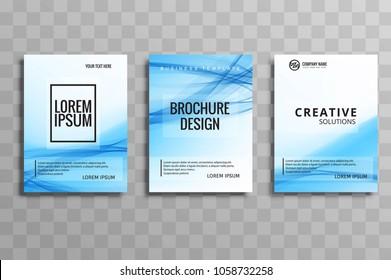 Abstract business brochure template set design