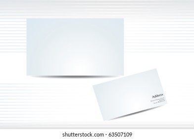 abstract business card presentation vector illustration