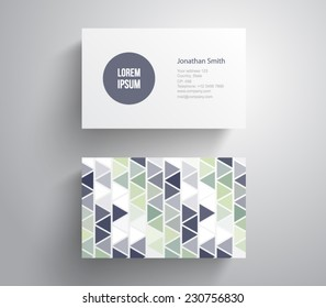 Abstract business card template with retro / vintage / hipster style, clean style design. Vector eps 10