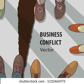 Abstract business conflict relationship collapse symbol