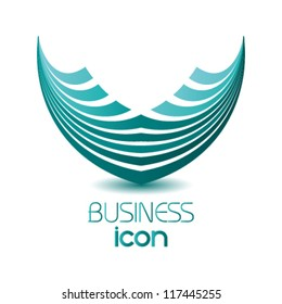 abstract business icon, logo design