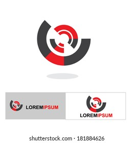 Abstract business icon set-  Isolated on white- Graphic Design Editable For Your Design