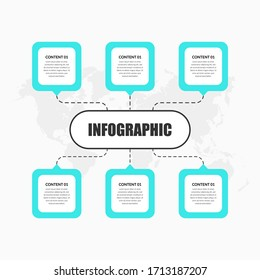Abstract Business Infographic Element Premium Vector