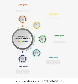 Abstract business infographics template. Illustration vector. Can be used for workflow layout, diagram, business step options, banner, web design. Business data visualization. Process chart.