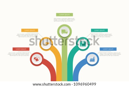Abstract Business Infographics Tree Template Diagrams Stock Vector