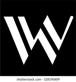 Letter W Black Color Logo Vector Stock Vector Royalty Free