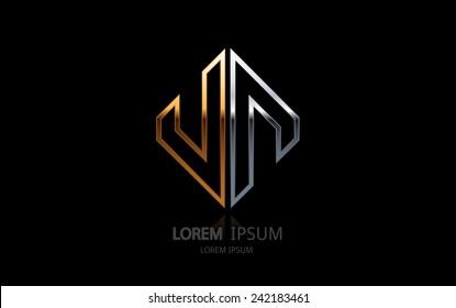 Abstract business logo. Vector logotype design.