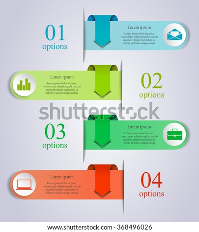 Abstract business process infographics arrow template stock vector abstract business process infographics arrow template can be used for workflow layout diagram accmission Images