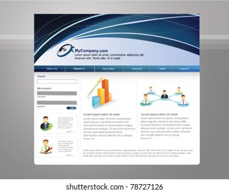 Abstract business  web site design