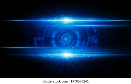Abstract businessman Key Door open Light technology background Hitech communication concept innovation background vector design.