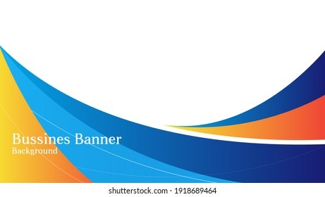 abstract bussines banner background with blue and orange color