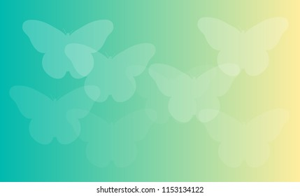 Abstract Butterflies Shapes, Gradient Background
