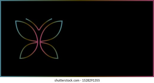 Abstract butterfly geometric background vector illustration.  eps-10