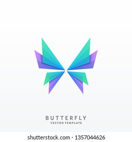 Abstract Butterfly Illustration Vector Template.Suitable for Creative Industry, Multimedia, entertainment, Educations, Shop, and any related business