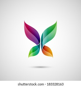 Abstract butterfly shape, eps10 vector