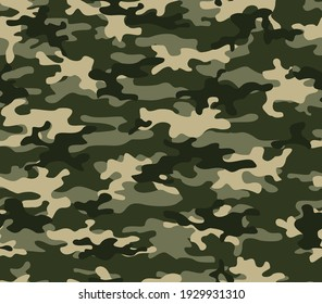Abstract camouflage light yellow, green pattern, fashion illustration. EPS 10