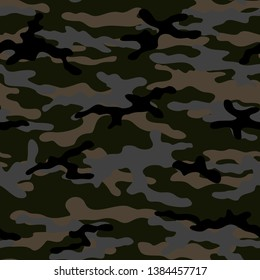 abstract camouflage military seamless vectors pattern style for clothing and wallpaper
