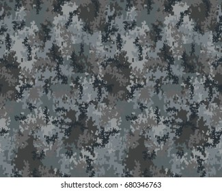 Abstract camouflage pattern. Seamless vector wallpaper.Colorful desktop background. Unique clothing style. Vector illustration. Military print.