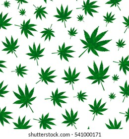 Abstract Cannabis Seamless Pattern Background Vector Illustration EPS10